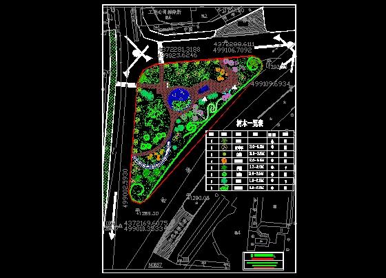 小游园景观设计平面图 小游园平面设计图 校园小游园平面设计图 别墅
