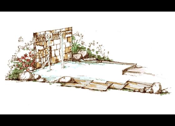 图纸 园林设计图 园林景观效果图 园林景观手绘图 温泉设计手绘图集