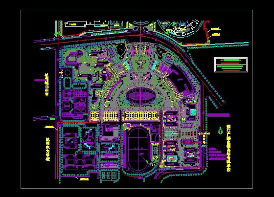 经典小区绿化(大城市某小区) 湖南城市学院全套设计规划图和效果图