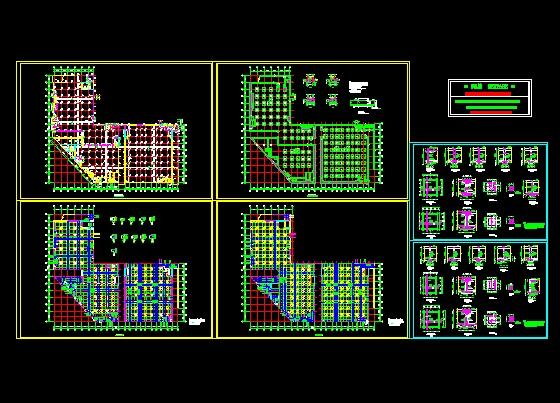 某地下车库施工图cad花导出的步骤图形图片
