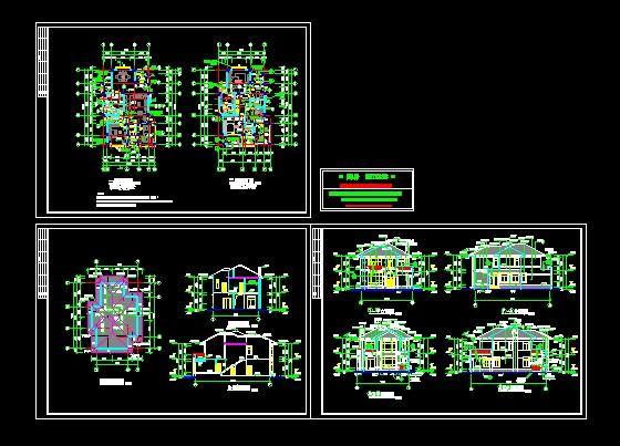 欧式别墅建筑结构施工图图片