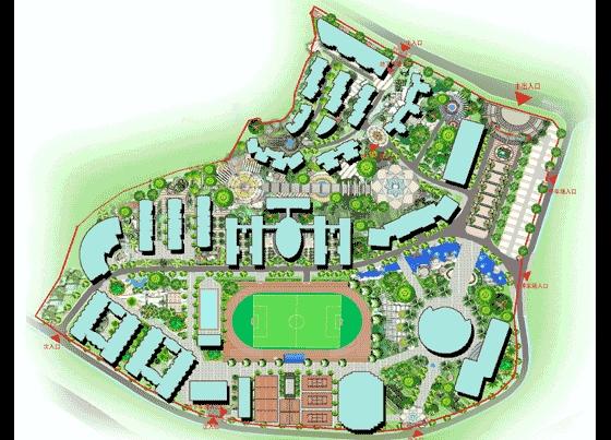 校園景觀規劃設計圖