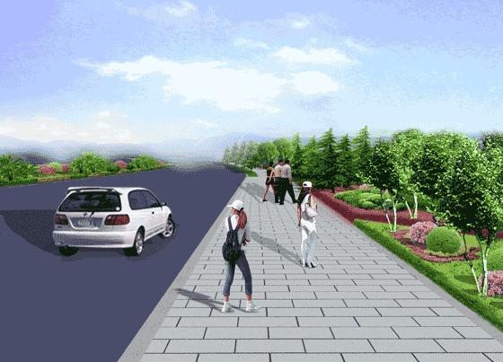 道路绿化景观设计手绘