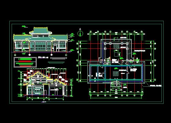 图纸 建筑图纸 古建筑设计 仿古建筑 一古建厅楼方案图  上传时间