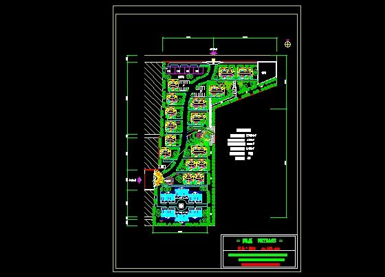 别墅小区总平面规划图高清图片