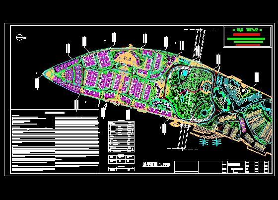 景观规划设计 风景区及度假村景观规划设计图 某岛花园规划总平面图