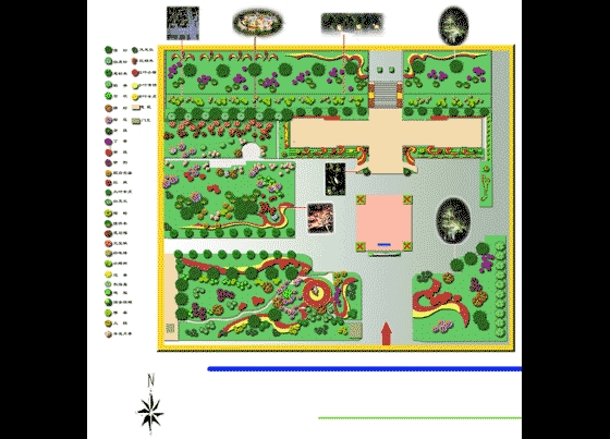 公司办公楼绿化平面图_cad图纸下载-土木在线