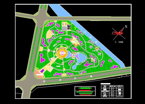 图纸 园林设计图 景观规划设计 公共绿地景观规划设计图 某中心绿地