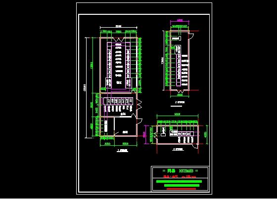 某工厂的变电所方案设计图图片