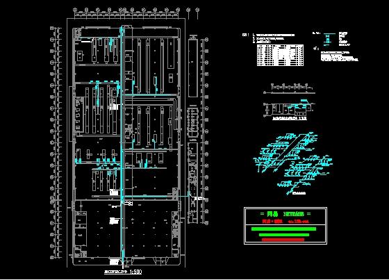 成套图纸(相关附件设计,如空压,蒸汽,燃气系统)成品验布区空压管道图