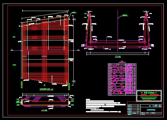 图纸 水利工程设计图  引调水工程(引水工程图纸)  排水沟  消力池