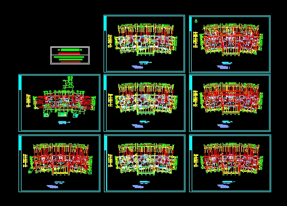 高层住宅平面图cad_高层住宅楼平面图_cad图纸下载-土木在线