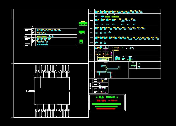 二类公建六层风冷模块中央空调设计 暖通空调设备专业安装详图,大样图