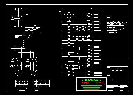 水泵变频控制图,变频器控制柜接线图.