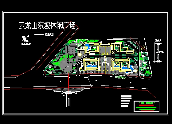 城市广场平面图