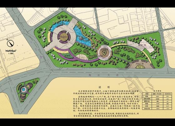 图纸 园林设计图 园林景观效果图 园林景观平面效果图 某绿地规划方案