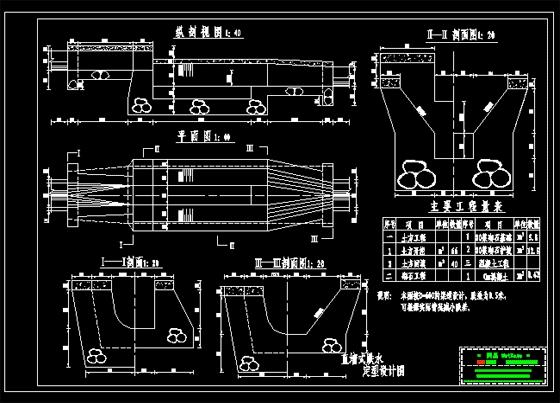 直墙式跌水设计图_cad图纸下载-土木在线
