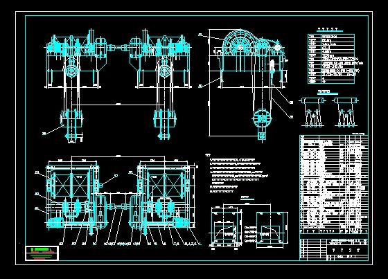 卷扬机机械图纸
