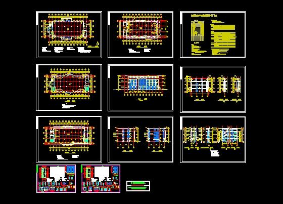 多层厂房建筑设计(cad图纸下载)-图1