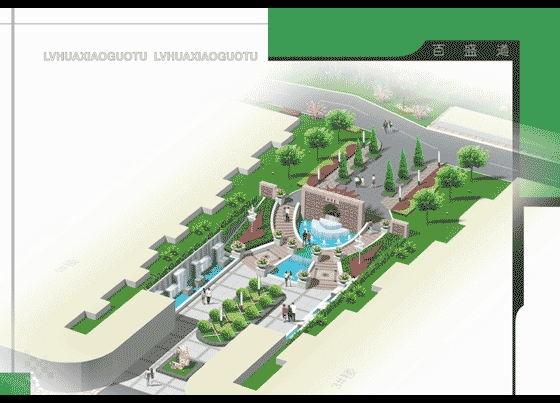 所属分类:围墙设计图 小区cad平面图 园林设计图  小区大门景观设计