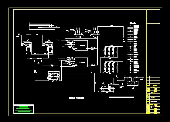 直燃机房工艺流程图_cad图纸复制cad2008下载粘贴图纸图片