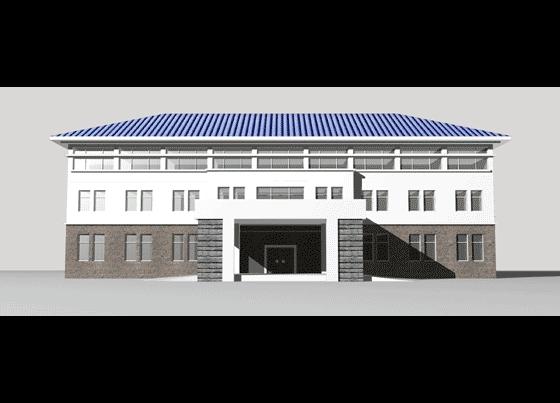 层办公楼效果图内容弯曲三层办公楼效果图版面