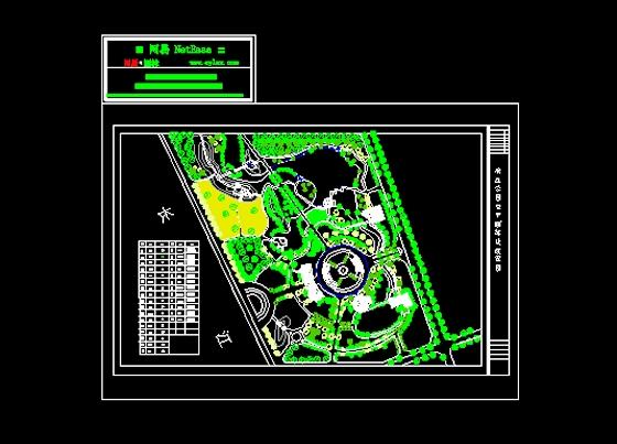 滨江公园植物配置总平面图