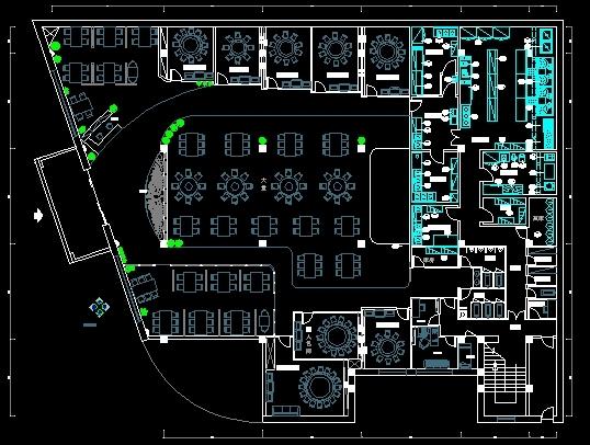 餐厅厨房设计平面图 餐厅厨房平面图cad 中餐厅厨房平面图  所属分类