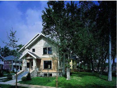 温哥华精品别墅森林深处的喷塑图纸(cad别墅建筑)森林门下载图片
