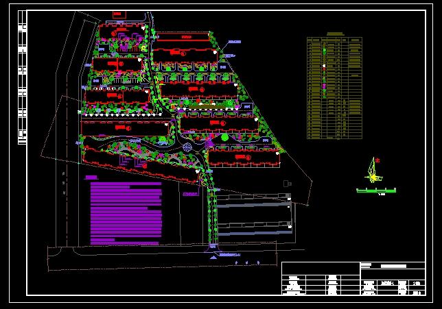 公园绿化设计图 德盛嘉园居住区绿化总图