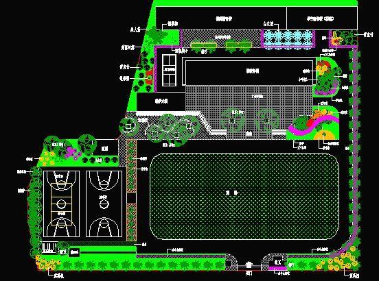 校园环境设计平面图 小学总平面图 花坛环境总平面图 幼儿园室内环境