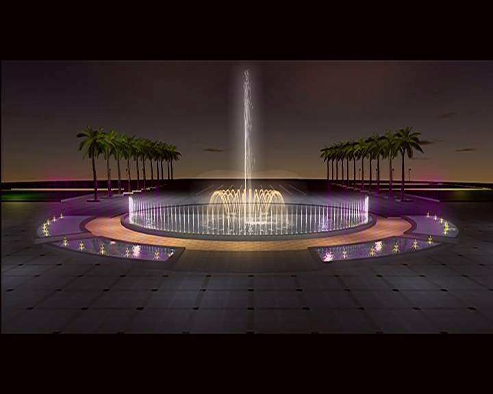 水景喷泉设计图片素材
