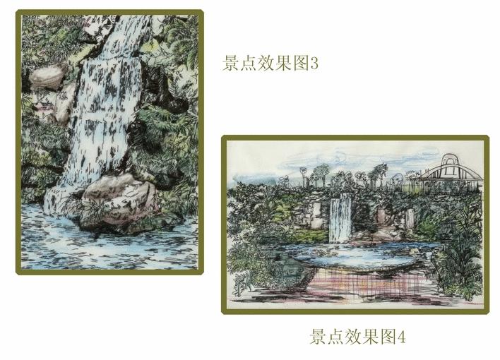 水景设计手绘图 大堂手绘图 手绘图 景观小品手绘图 花坛设计手绘图