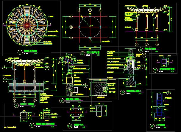 图纸 园林设计图 车库顶木亭子  上传时间:2006-09-27 所属分类:园林