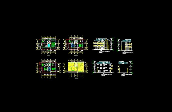 多层住宅建筑设计施工图2套