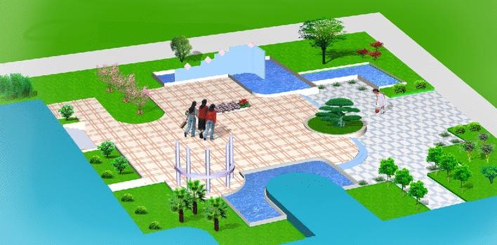图_广场平面图手绘_校园广场手绘平面图 - 云创中国