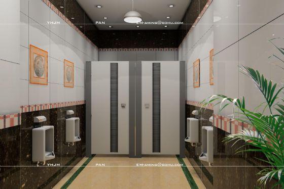综合家庭和公共场所多种卫生间 高清图片