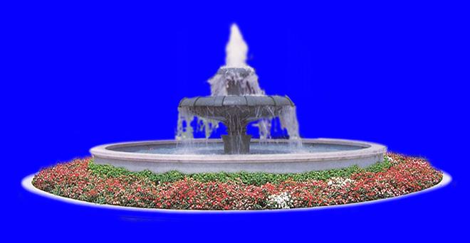 喷水池渲染图