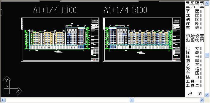 这是一个厂区的宿舍楼,主体六层,局部八层,为内廊式的职工图片