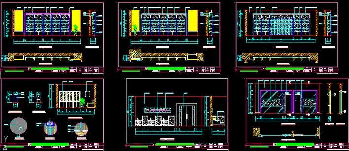 x展厅设计图_cad图纸下载-土木在线