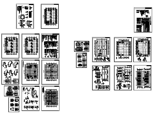 一套經典的工業廠房全套施工圖,兩層框架結構,頂層木屋架,很