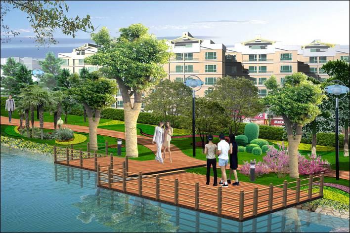 水景喷泉设计图(喷泉设计图)  滨水景观节点效果图   滨水景观节点
