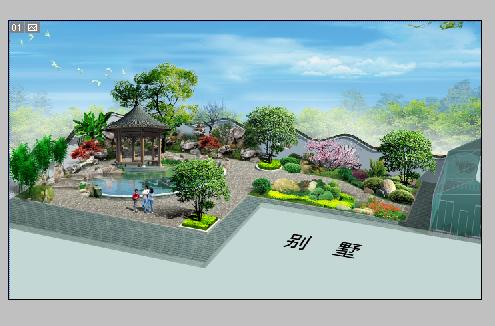 图纸 园林设计图 别墅庭院效果图  上传时间:2006-12-03 所属分类