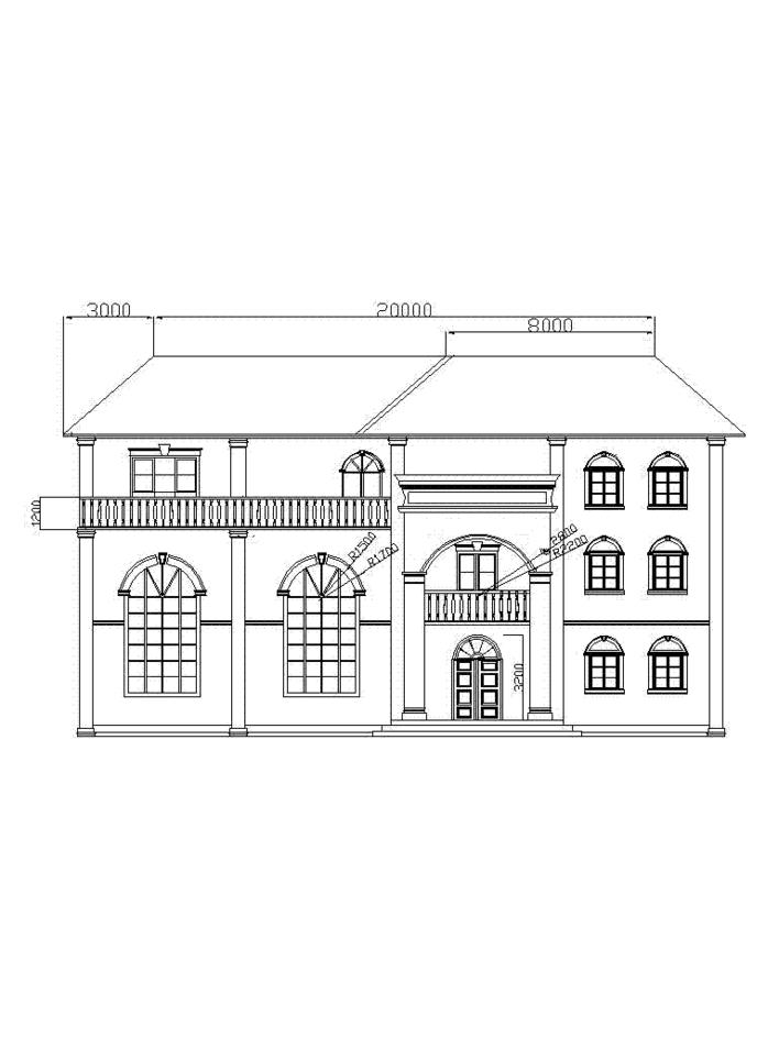图纸 园林设计图 园林景观效果图 园林景观立面效果图 别墅三层平面图