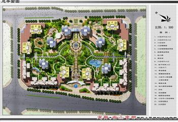重庆某高层住宅区景观设计