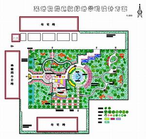 某地税局庭院景观设计方案图片