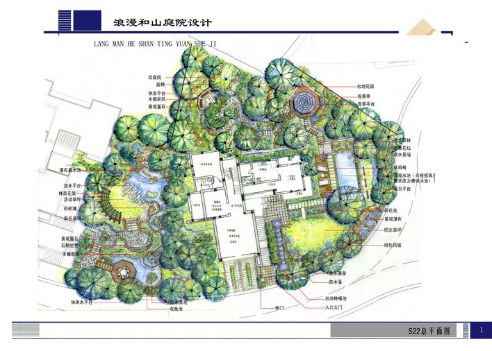 小区景观设计手绘效果图 手绘景观快题设计 手绘快题设计 手绘别墅