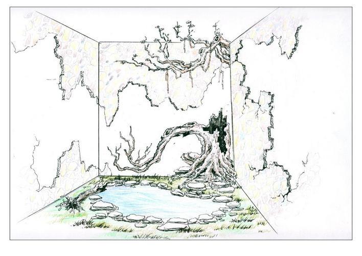 自然景观效果图 古老石