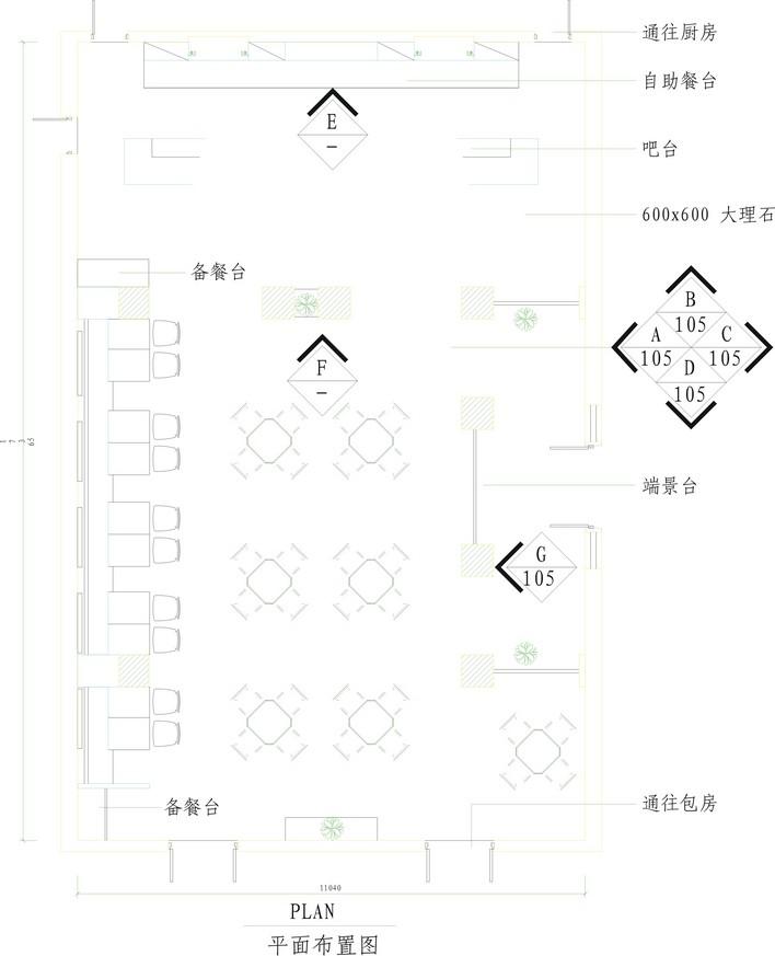 西餐厅平面布置图