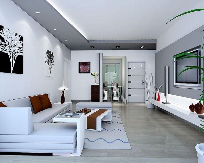 这张室内3d效果图富含后现代设计风格的设计元素,是个不错的范例!图片